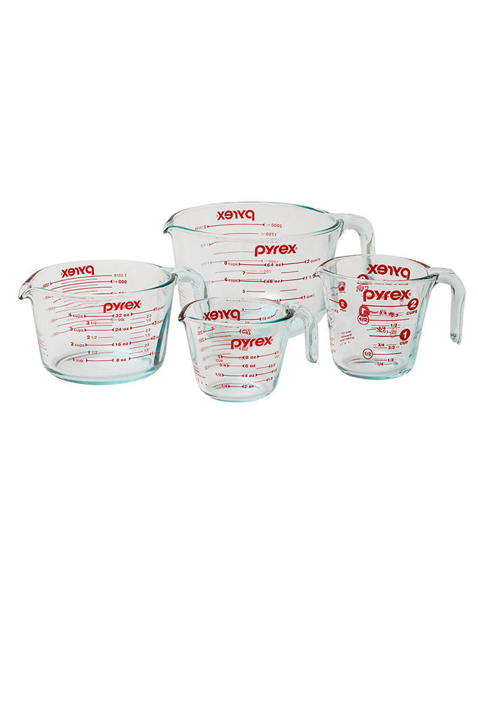 Pyrex Four-Piece Glass Measuring Cup Set