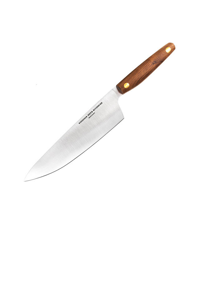 Eight Inch Chef Knife with Walnut Wood Handle