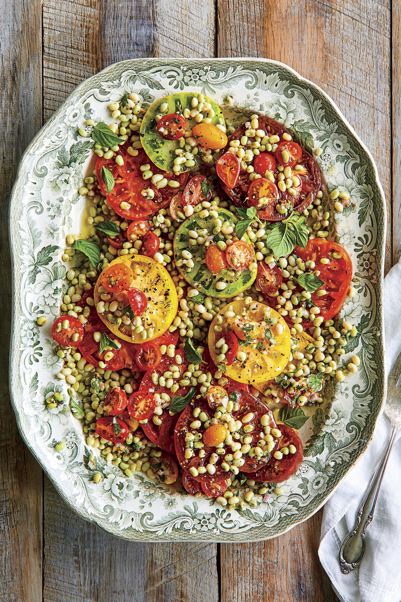 Field Pea-Tomato Salad with Lemon Vinaigrette