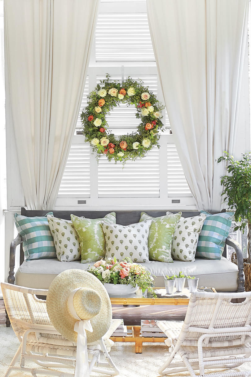 Kentucky Derby Porch party at Zero George Rose Wreath
