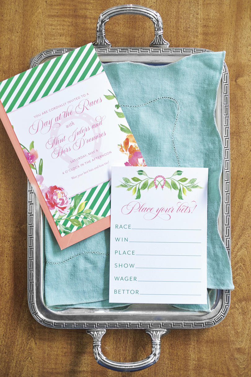 Kentucky Derby Party Invitation and Betting Card by Fresh Ink