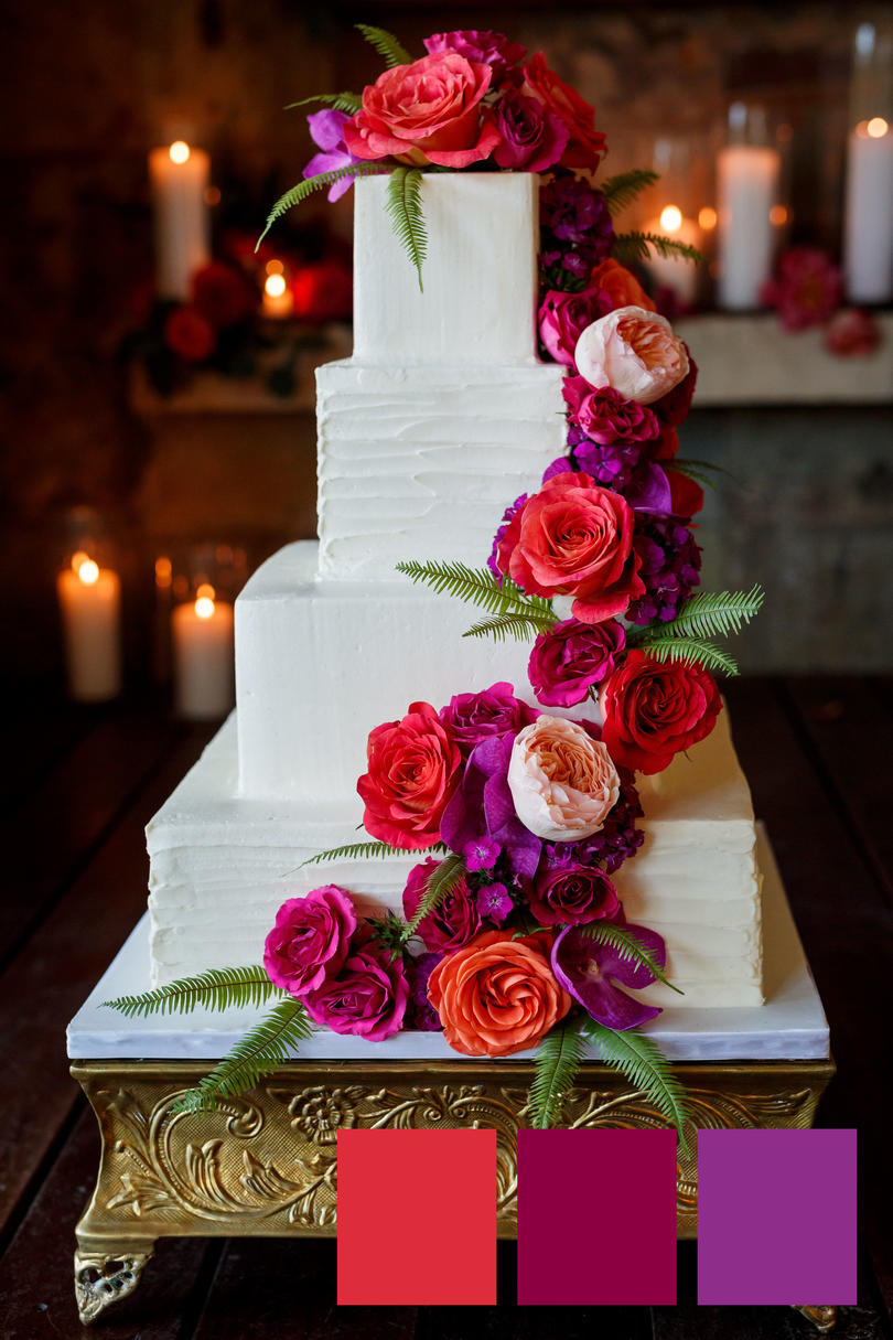 Bright Berry Pink Wedding Colors