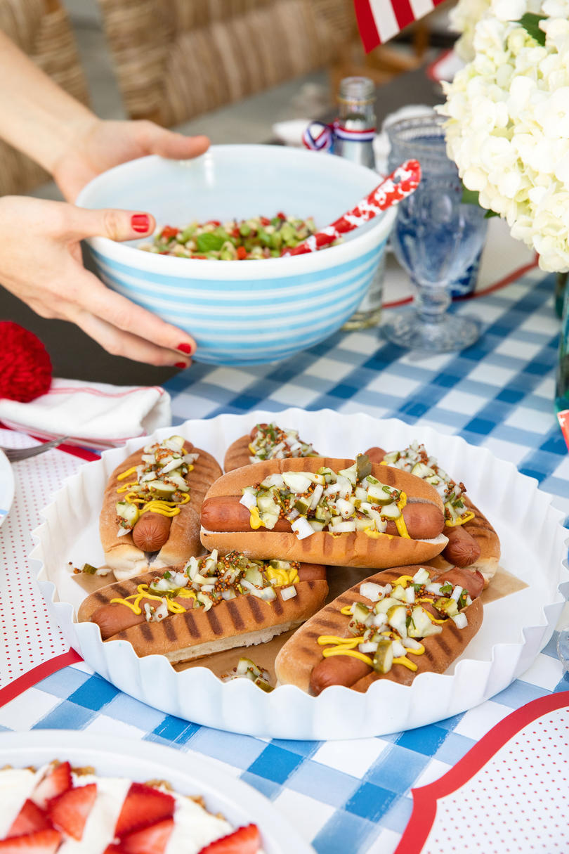 Katie Jacobs and Mary Huddleston 4th of July Party Hot Dogs