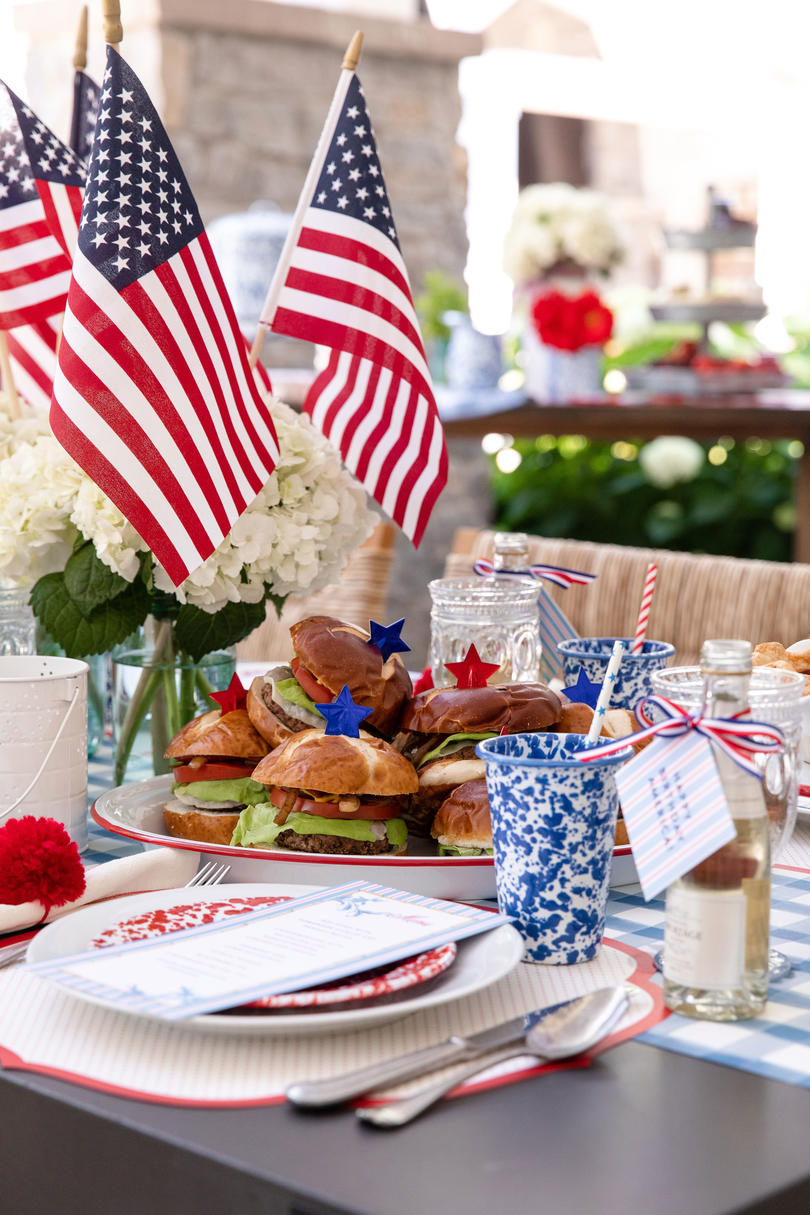 Katie Jacobs and Mary Huddleston 4th of July Party Centerpiece