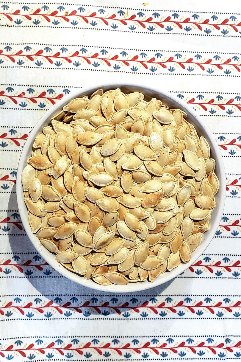 toast pumpkin seeds