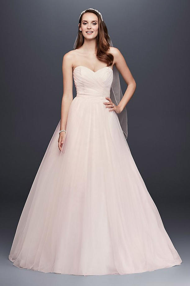 05653b8f6 Strapless Sweetheart Tulle Wedding Dress