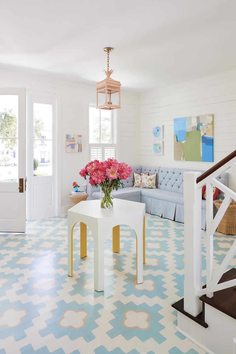 Julia Engel of Gal Meets Glam Home in Charleston, SC Foyer