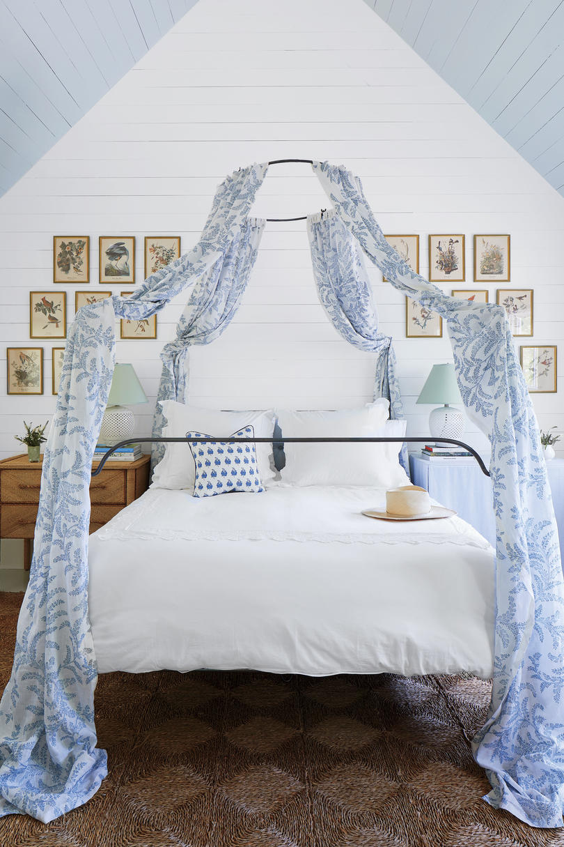 Julia Engel of Gal Meets Glam Charleston, SC Home Blue and White Bedroom