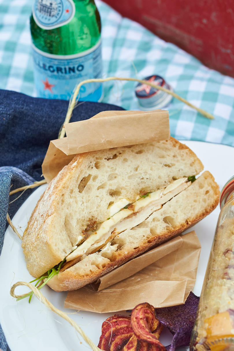 Turkey, Brie, and Fig Pressed Sandwiches