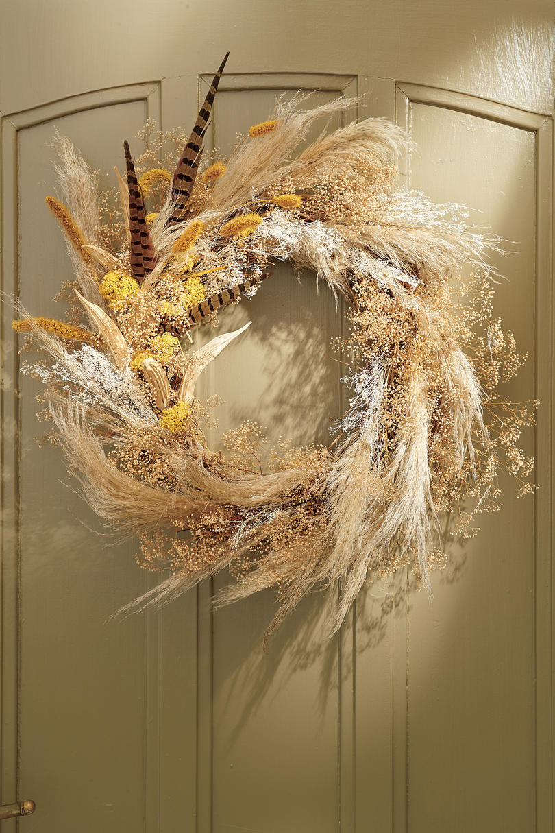 Feather and Grasses Wreath