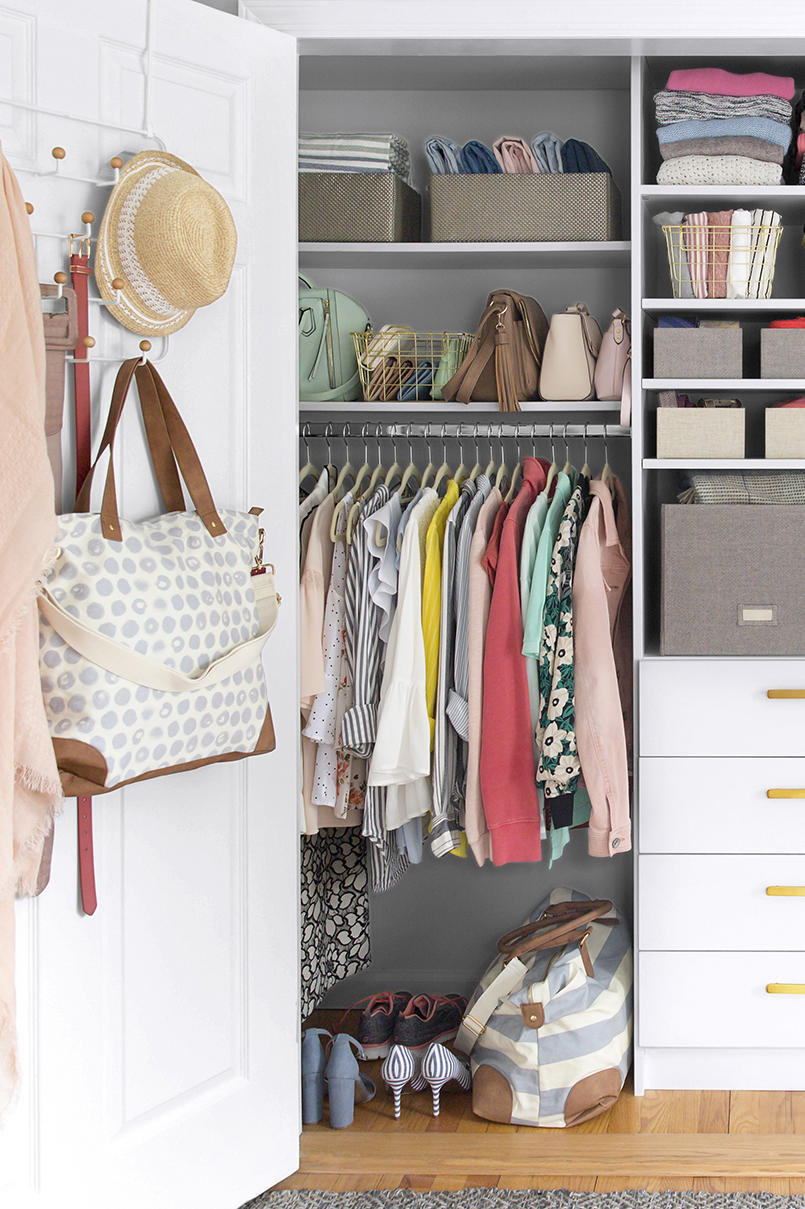 Closet where everything is easy to find
