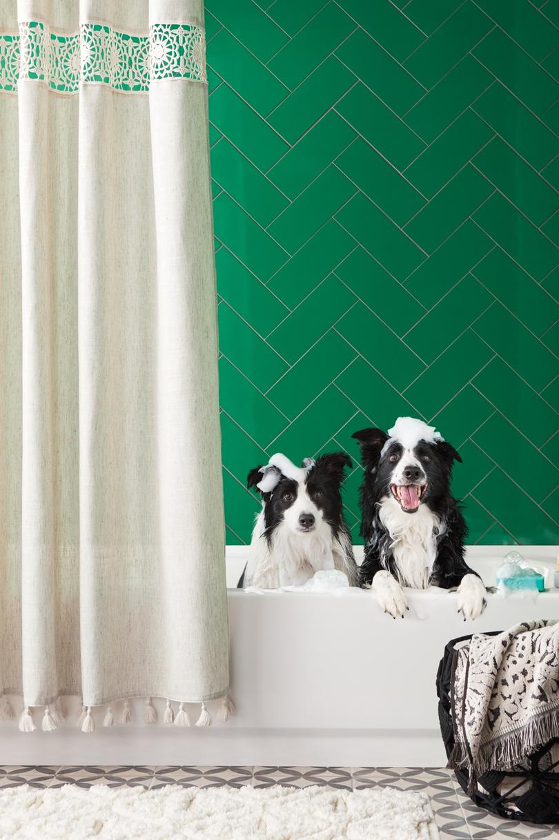 Add tons of texture to your bathroom