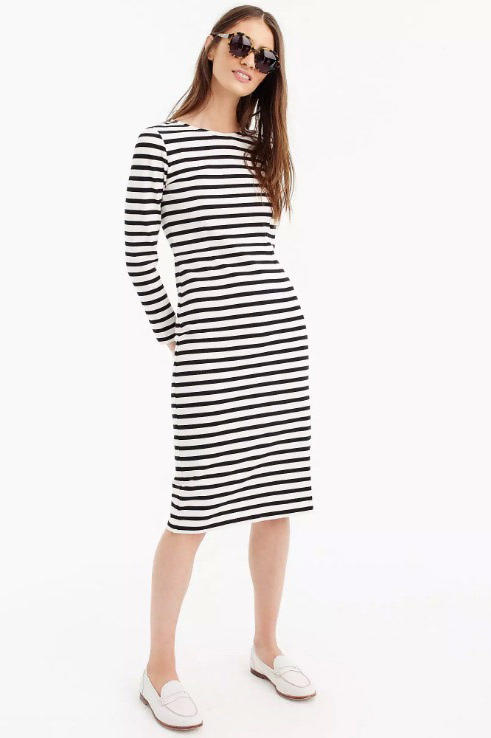 Long-Sleeve Stripe Dress