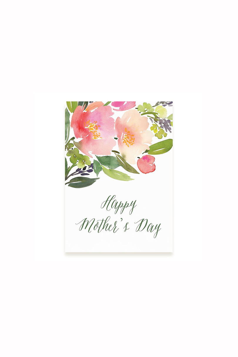 Minted Watercolor Floral Mother's Day Card