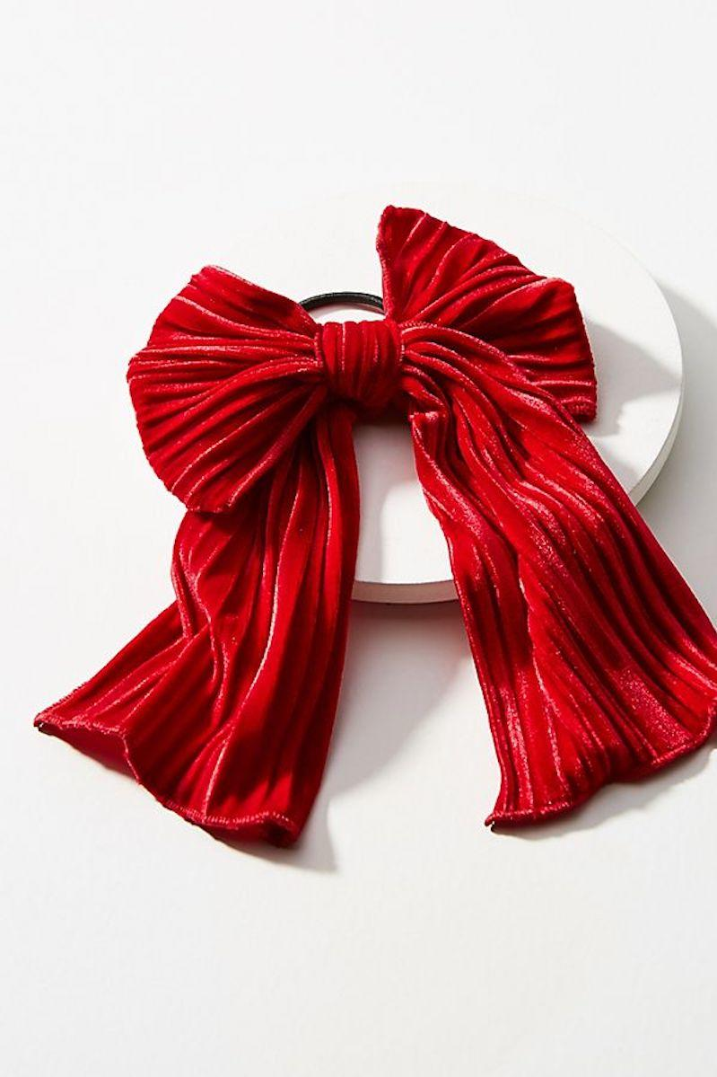 Red Velvet Ribbon hair accessory