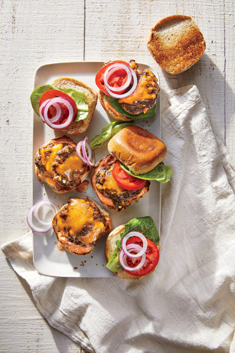Smashed Double Cheeseburger Sliders