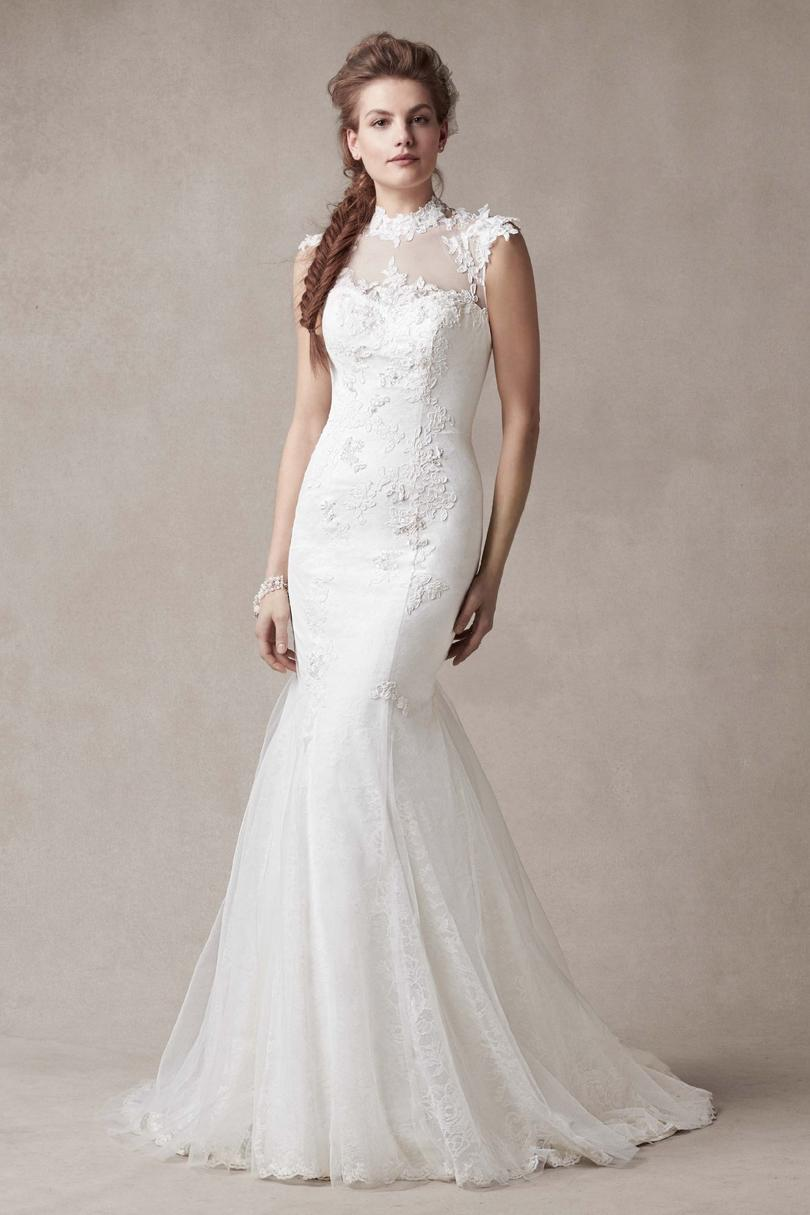 Wedding Dress with Illusion Neckline