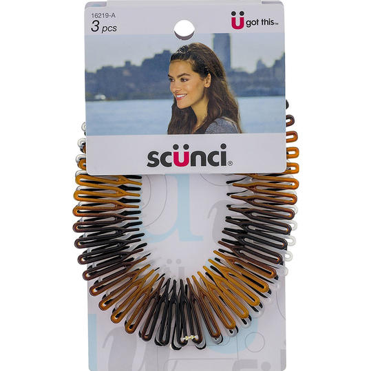 Scunci Effortless Beauty Stretch Hair Combs