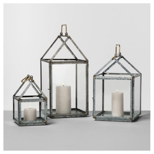 Hearth & Hand with Magnolia Galvanized House Lanterns