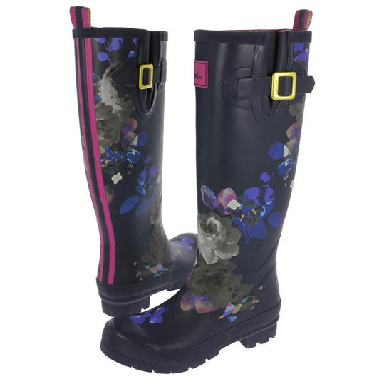Joules Welly Floral-Print Rain Boots