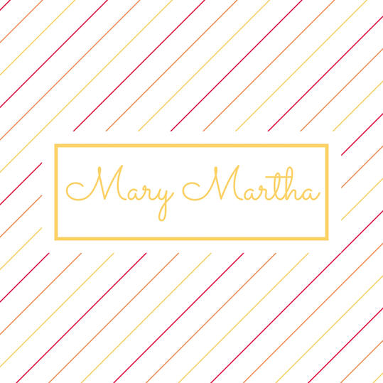 Double Name: Mary Martha