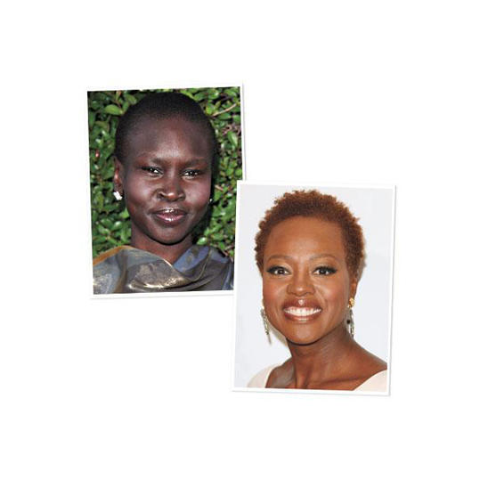 Dark Skin Complexion: Alex Wek and Viola Davis