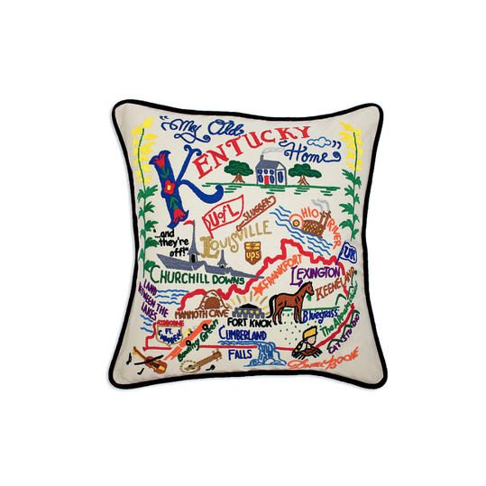 Embroidered State Pillow