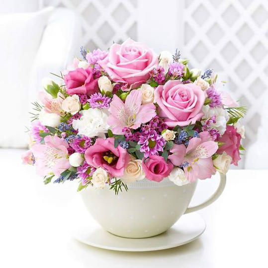 Floral Teacup Bouquet