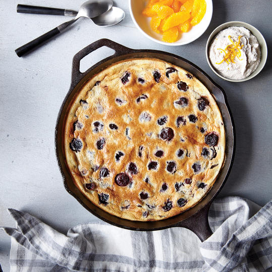 Cranberry and Dark Cherry Clafoutis