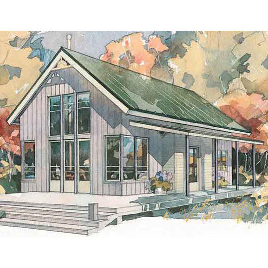 Shoreline Cottage, Plan #490