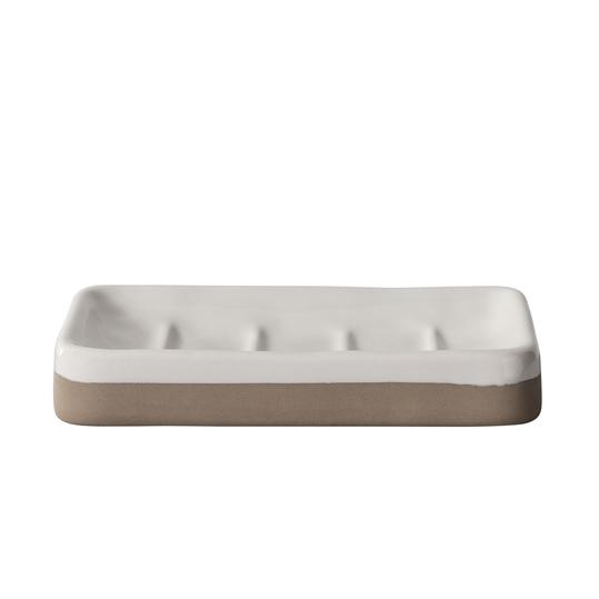 Hearth & Hand with Magnolia Ceramic Soap Dish in Cream