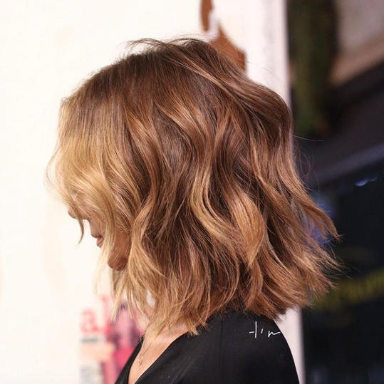 Layered Shoulder Length Cut