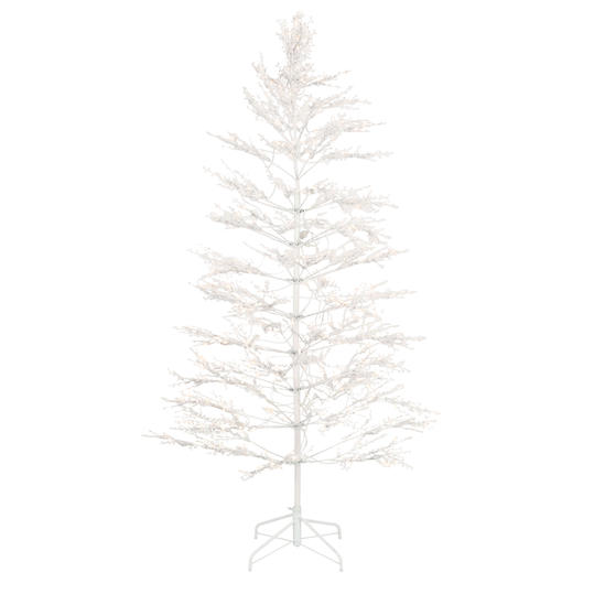 7 ft. White Winterberry Branch Tree with LED Lights; $129