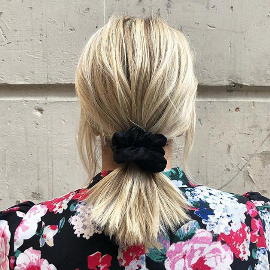 Short Scrunchie Ponytail