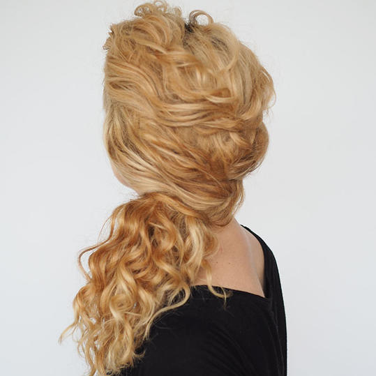 Easy Twisted Ponytail
