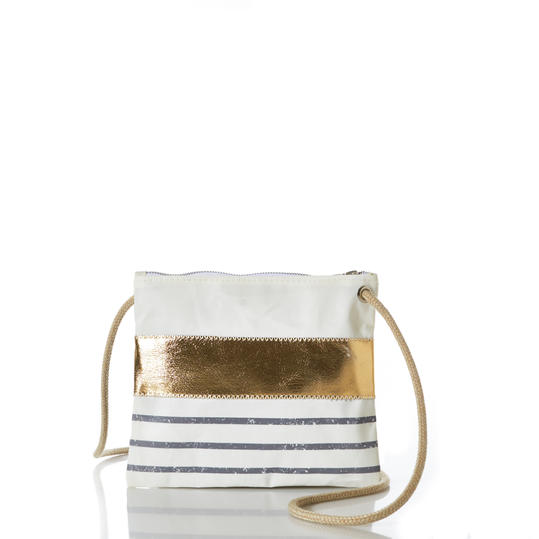 Sea Bags Grey Mariner Stripe Handbag