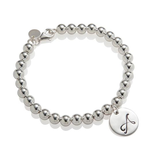 Shiny Little Blessings Initial Bead Bracelet