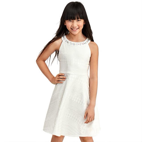 RX_1902_First Communion Dresses_Jewel-Neck Knit Dress