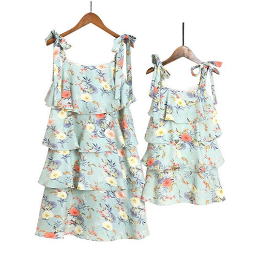 Bow-Strapped Tiered Sundresses