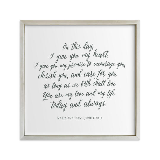 Minted. Your Vows as an Art Print