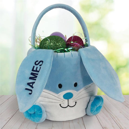 Embroidered Personalized Bunny Basket