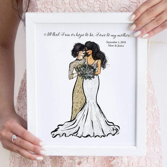 Personalized Mother of the Bride Art Print