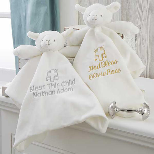 Christening Lamb Personalized Blankie