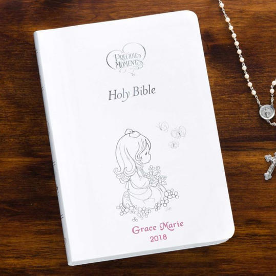 Precious Moments Children's Bible in White