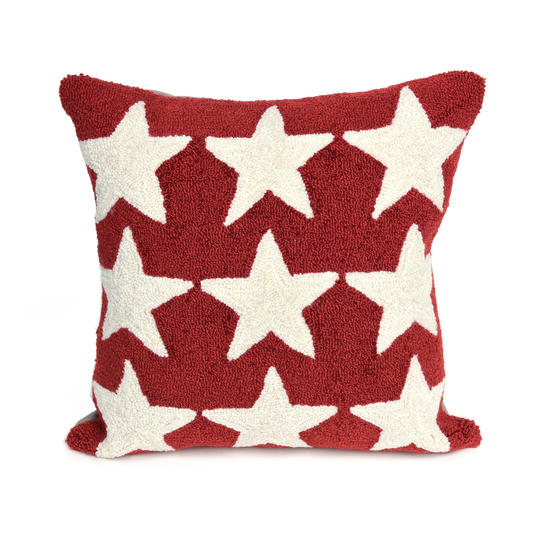 Red Stars Outdoor Pillow, $49.99