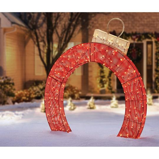 Member's Mark 5' Pre-Lit Twinkling Ornament Arch