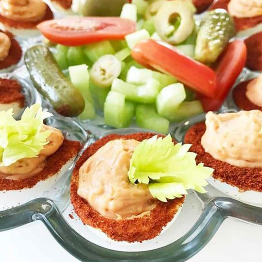 bloody mary deviled eggs recipe