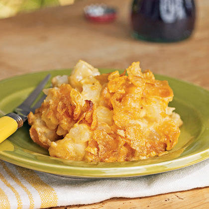Cheesy Potato Casserole with Corn Flakes