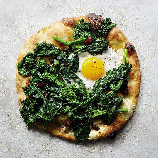 Thursday: Broccoli Rabe with Soppressata and Egg