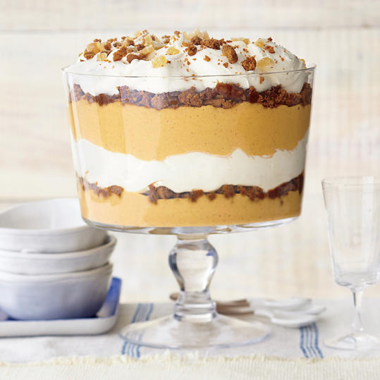 Ginger-Pumpkin Trifle with Vanilla Mascarpone Cream